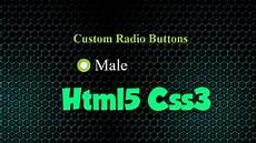 how to create custom radio buttons using html5 css3