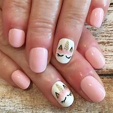 so cute nailsbyjustine unicorn unicornnails nailart