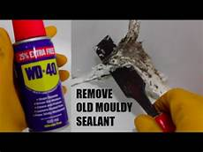 silikon entfernen dusche how to remove mouldy bathroom shower sealant with wd40