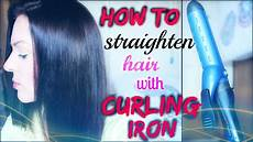 How To Straighten Hair With Curling Iron how to straighten hair with curling iron