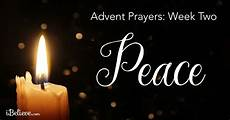 advent week two prayer for peace