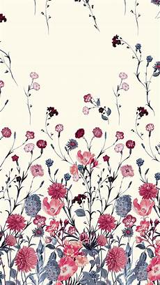 Flower Illustration Wallpaper by Blue And Flower Floral Pattern In 2019 Wallpaper