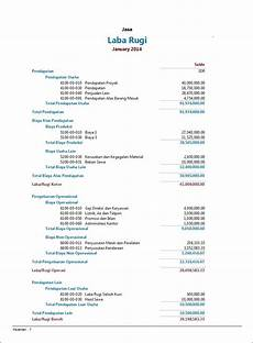 contoh laporan keuangan perusahaan jasa kantong tebel