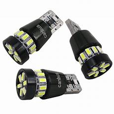 2pcs canbus t10 w5w led light bulb smd 3w car lighting