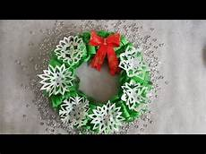 basteln f 252 r weihnachten diy t 252 rkranz aus papier
