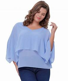 womens blue blouse plus size s plus size chiffon blouses tops poncho