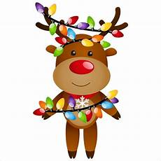 reindeer with lights window cling window flakes