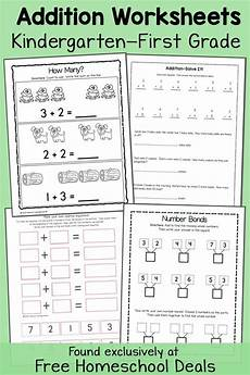 free addition worksheets k 1 instant download free