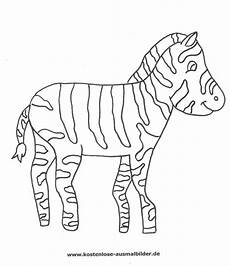 ausmalbild zebra zum ausdrucken