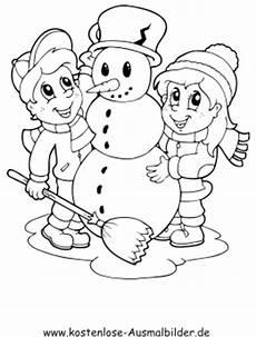 Ausmalbilder Winter Schneemann Ausmalbilder Schneemann Winter Zum Ausmalen