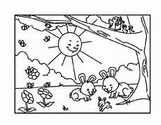 the animals happy coloring picture for