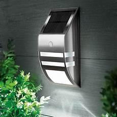 solar powered pir motion sensor 2 led light outdoor garden