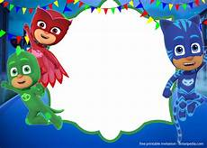 Pj Mask Malvorlagen Gratis Free Pj Masks Invitation Templates Editable And