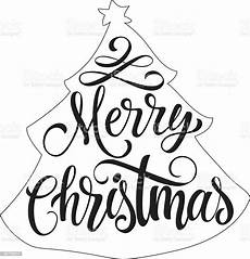 merry christmas outline pictures merry christmas lettering in fir outline stock vector art more images of banner sign