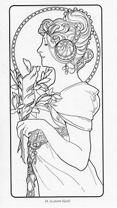 alphonse mucha coloring pages alphonse mucha coloring book