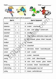 sports equipment worksheets 15781 sports names and equipment esl worksheet by mandyman
