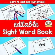 editable sight word books preview pre k pages
