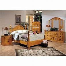 Schlafzimmer Pinie Massiv - 4pc solid pine size bed complete