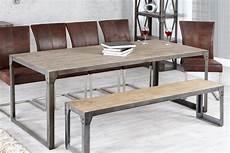 design esstisch industrial 200cm akazie teakgrau gek 228 lkt