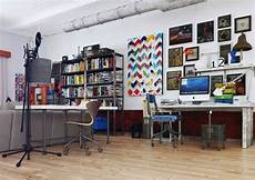 colorful and funky interiors shared work area 600x424 jpg