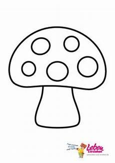druck pilz form vorlage herbst pilze form