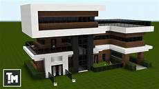 minecraft modern house plans minecraft how to build a modern house mansion tutorial