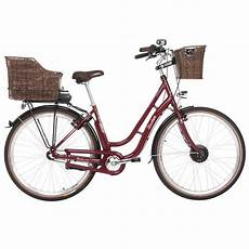 fischer e bike city retro damen 28 quot er 1804 in bordeauxrot