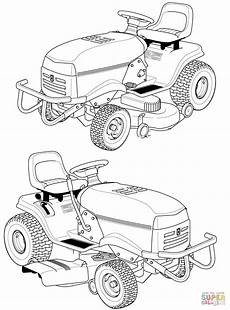 husqvarna lawn mower coloring page free printable