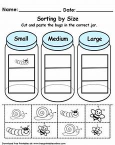 sorting size worksheets 7881 sorting by size worksheet