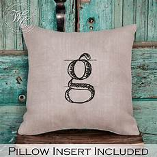 monogram pillow burlap pillow personalized wedding gift
