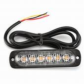4x 6LED Amber Cree Recovery Strobe Flashing Light