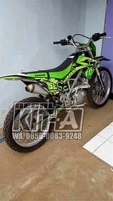 Variasi Motor Klx by Jual Decal Stiker Klx 150 Bf Fox Hijau Dekal Sticker