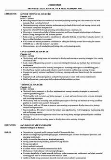 technical sourcer resume sles velvet