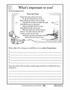poem worksheets for 5th grade 25464 poems setting goals 2nd grade reading writing worksheet greatschools