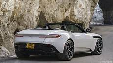 2018 aston martin db11 volante v8 color lunar white rear three quarter hd wallpaper 102