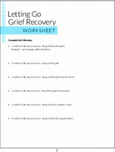 plr worksheets letting go grief recovery worksheet plr me