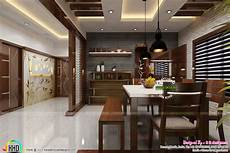 dining kitchen and foyer interiors kerala home design and floor plans