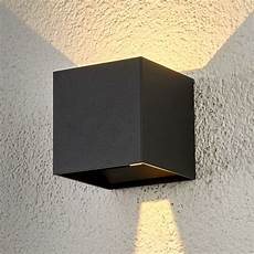 cube shaped led outdoor wall light lights co uk