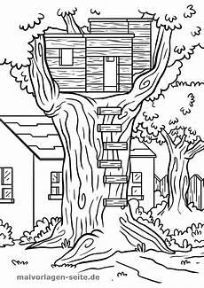 kolorowanka domek na drzewie kolorowanka budowlana do