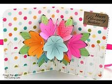 flower pop up card template the cutting cafe