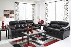 midnight black casual contemporary living room furniture by