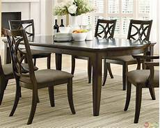 meredith contemporary 7 piece dining room table and chairs espresso finish