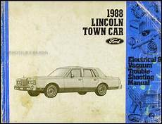 car manuals free online 1988 lincoln town car lane departure warning 1988 lincoln town car electrical and vacuum troubleshooting manual