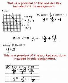 linear equations review worksheet with answer key worked solutions