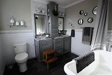 Bathroom Pictures You To See To Believe by Before And After Grey And White Traditional Bathroom