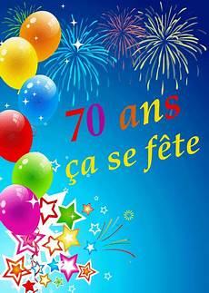 texte anniversaire 70 ans gratuit message anniversaire