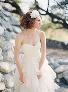 strapless wedding gown with ruffled tulle skirt elizabeth anne designs the wedding blog