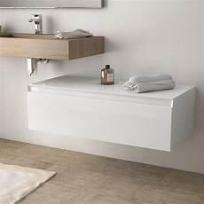 rangement suspendu salle de bain meuble de rangement 100 cm blanc brillant aragon