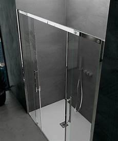 profili per doccia doppia porta scorrevole per doccia a nicchia quot ines