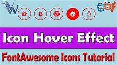 css icon hover effect color change font awesome tutorial by amazing techno tutorials youtube